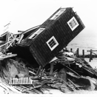 Storm damage in Rehoboth Beach, Delaware