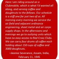 Jeanne Severance Letters