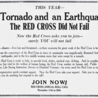 Red Cross Roll Call announcement